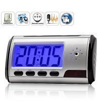 Spy Digital Alarm Table Clock Dvr Motion Detector Hidden Camera Video Camra