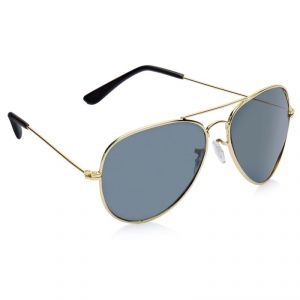 Vicbono Black Aviator Sunglasses For Men-(code-vbsg-008)