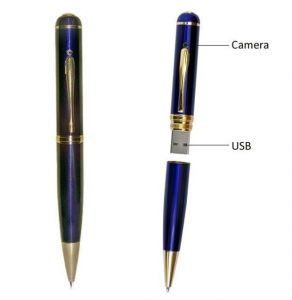 32 GB Blue Hidden Spy Pen Pinhole Camera