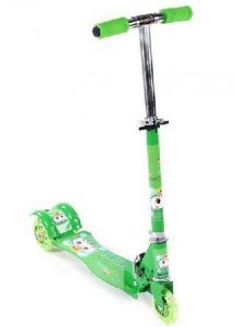 Lightning Wheels Kids Scooty Foldable Personal Mini Scooter