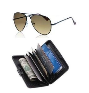 Classic Brown Aviator & Alluma Wallet