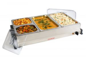 Food steamer - Clearline 4 Pan Ss Food Warmer And Buffet Server