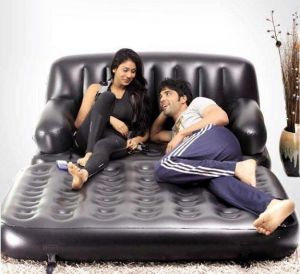 Home Utility Furniture - 5 In 1 Air Sofa Cum Bed With Free Electric Air Pump And Puncture Kit.