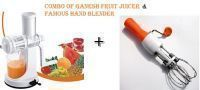 Combo Of Ganesh Fruit Juicer & Famous Hand Twist Blender