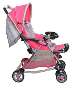 Kismis Harry And Honey Rocking Stroller-pink