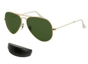 Golden Frame Aviator Style Air Force Sunglasses Mens Sunglass With Case