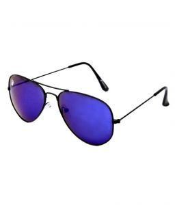 Rinoto Black Full-frame Aviator Sunglasses For Men