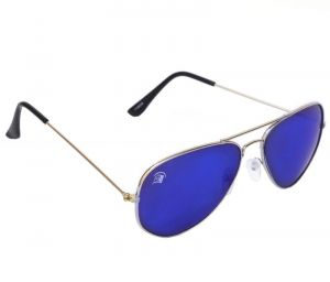 Ibadat Silver Full-frame Aviator Sunglasses For Men