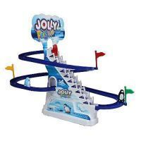 Jolly Penguin Race Set Musical Stairs Running Tracks Game