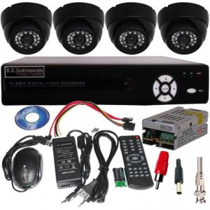 Dm Set Of 8 Night Vision Cctv Dome Camera With 8 Ch. Channel Network Dvr