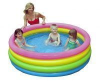 Intex Inflatable Sunset Glow Paddling Pool Or Ball Pond