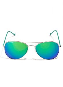 658cab8ad6c5 Buy Trendy Aviator Style Uv Prtected Sunglass Golden Frame Green ...