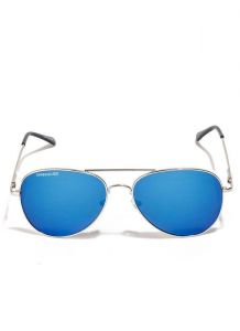 Danny Daze Blue Mirror Lens Aviator Sunglasses For Men & Women