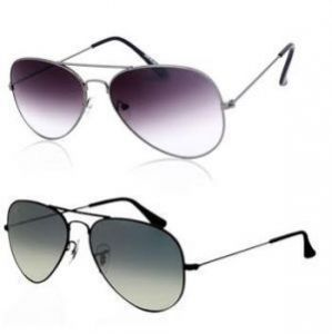 Buy 1 Purple Aviator & Get 1 Black Aviator Sunglass Free