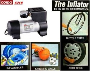 Coido 6218 12v Electric Car Tyre Inflator Air Compressor