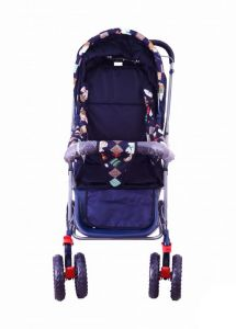 Early Smile Blue Lightweight Metal Pram For Babies - Gear103
