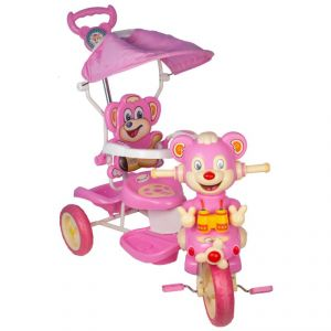 Baby Pink Plastic Tricycle For Kids