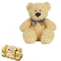 Teddy Bear With Ferrero Rocher Chocolate