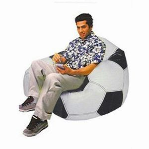Groovy Football Shape Big Size Beanless Bag For Adults Machost Co Dining Chair Design Ideas Machostcouk