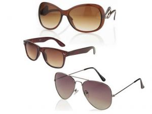 Women Sunglasses Set Of 3 Brown