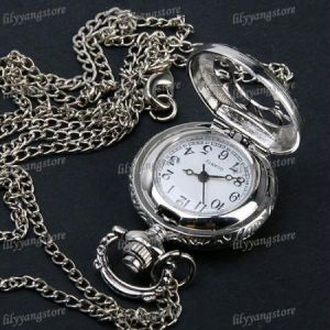 Antique Silver Pocket Watch For Men Woman Gift Unisex Pocket Watch