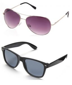 Combo Of Aviator & Wayfarer Sunglass (purple/black)