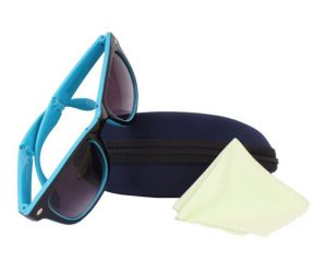 Sushito Black Blue Square Sunglass For Men