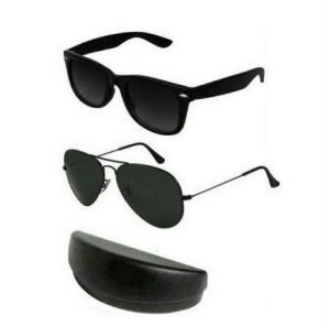 Ultimate Black Aviator & Wayfarer Style Sunglasses Combo
