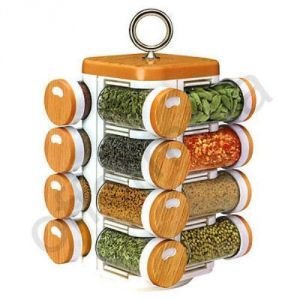 Spice Jars, Multipurpose, Compact,16 In One, Rotating, Kitchen Spice Jars