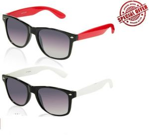 Buy 1 Black And Red Wayfarer And Get A Black And White Wayfarer Free