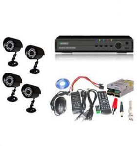 Home Security Package Set Of 4 Night Vision Cctv Bullet Cameras With Dvr N Other Accessories
