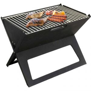 Briefcase Style Folding Barbecue Grill Toaster Barbeque