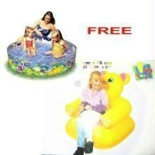 Combo 4foot Pool + Teddy Chair For Children Kids