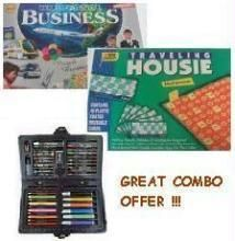 Business Game + Housie Game + Colouring Set