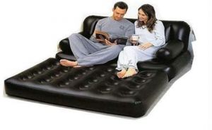 Comfort Quest Inflatable Sofa Air Mattress Bed & P