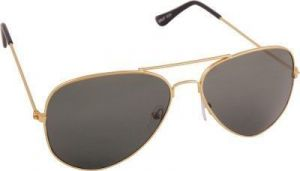 Tim Hawk Grey Cr Lens Aviator Sunglass For Men