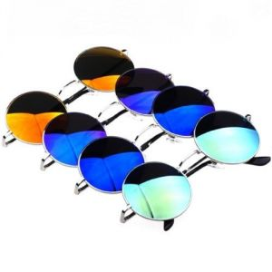 4-pcs Set Round Metal Frame Mirror Lens Sunglasses-678916