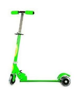 Eci - Green Scooter For Kids, Foot Brake, Children Kick Push Roller Board