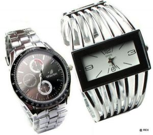 Stylish Combo - Mens Watch And Womens Watch -062