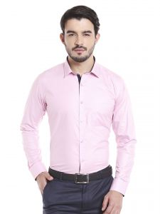 Solemio 100 Percent Pink Cotton Full Sleeve Shirt For Mens (code - A17sh1060epi)