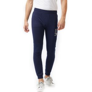 Fitz Navy Blue Slim-fit Jogger For Mens (code - A17tc7104nv)