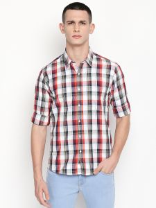 Solemio Men's Wear - Solemio Multi Poly Cotton Checks Shirt For Mens  (Code - A18SH1016EDG)