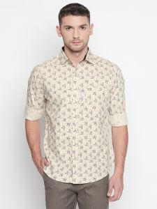 Solemio Men's Wear - Solemio Brown Printed Shirt For Mens