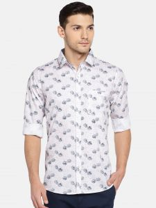 Solemio Men Pink & Black Printed Casual Shirt (code - A18sh1034epi)