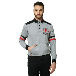Men's Wear - Fitz Grey Mock Collar Sweatshirt For Mens (Code - A18SW9001GR)