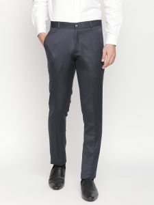 Solemio,Gwalior Suitings Men's Wear - Solemio Grey Formal Trouser For Mens (Code - A18TR3003ENV)