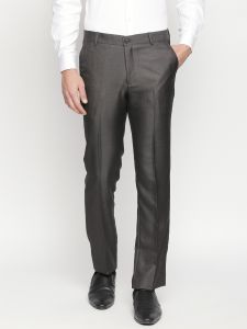 Solemio Charcoal Formal Trouser For Mens (code - A18tr3011echrcl)