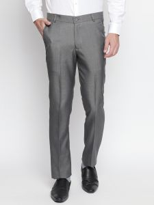 Solemio Men's Wear - Solemio Charcoal Formal Trouser For Mens (Code - A18TR3011EGR)
