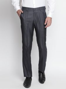 Solemio Charcoal Formal Trouser For Mens (code - A18tr3011env