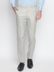 Solemio,Gwalior Suitings Men's Wear - Solemio Off White Formal Trouser For Mens (Code - A18TR3012EBE)